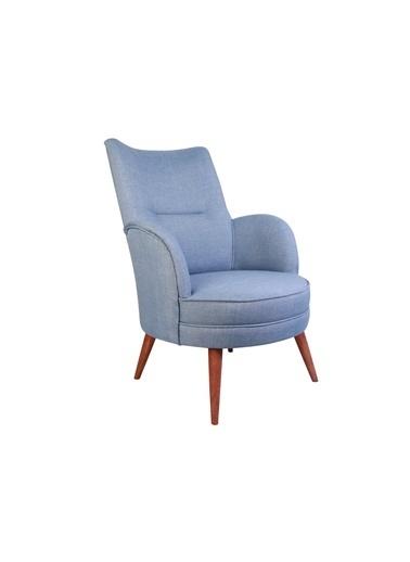 Ze10 Design Victoria Tekli Koltuk Indigo Mavi Mavi